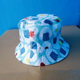Bucket cap for kids/waterproof/double-face/GK2006